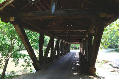 Wooden bridge found at Dogwood Canyon just South of Branson, Mo.
