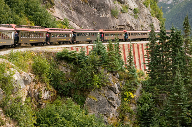 """Scenic Railroad - Skagway, Alaska - White Pass and Yukon Route. (To purchase prints or downloads, click on the """"Buy"""" or shopping cart button above the image.)"""