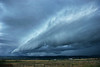 """Fast moving storm front, or squall line over Wyoming.   Click the """"Buy"""" or shopping cart button (above the image) to purchase prints or downloads."""
