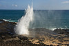 "Spouting Horn, Kauai, Hawaii - a natural water wonder - a blowhole on the south shore. (To purchase prints or downloads, click on the ""Buy"" or shopping cart button above the image.)"