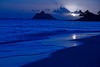 Tropical Beach Moonrise - Kailua Beach, Oahu Hawaii