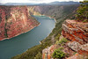 Flaming Gorge Reservoir - a National Recreation Area on the Green River<br /> Note orange and red lichens growing on foreground rocks