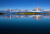 Grand Tetons reflecting in Jackson Lake, Grand Teton National Park.<br /> RESTRICTIONS on this image: Prints of this image, for personal use, can be ordered here. However, any prints for commercial use, or any image download must be licensed from Getty Images.