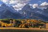 Autumn foothills under the Grand Tetons - Grand Teton National Park