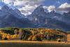 Autumn foothills under the Grand Tetons - Grand Teton National Park