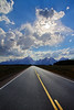 National Park highway to the Grand Teton mountain range