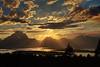 Sunset over Jackson Lake and Mount Moran, Grand Teton National Park - taken from Signal Mountain