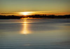 Sunrise over Yellowstone Lake; Yellowstone National Park. Taken on the West Thumb side of the lake. Yellowstone Lake is the largest freshwater lake above 7,000 feet (2,133 m) in North America.