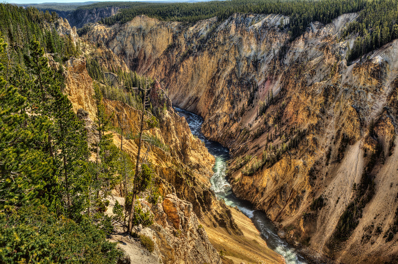 Yellowstone Canyon; or the 'Grand Canyon of the Yellowstone'; Yellowstone National Park; Yellowstone River.