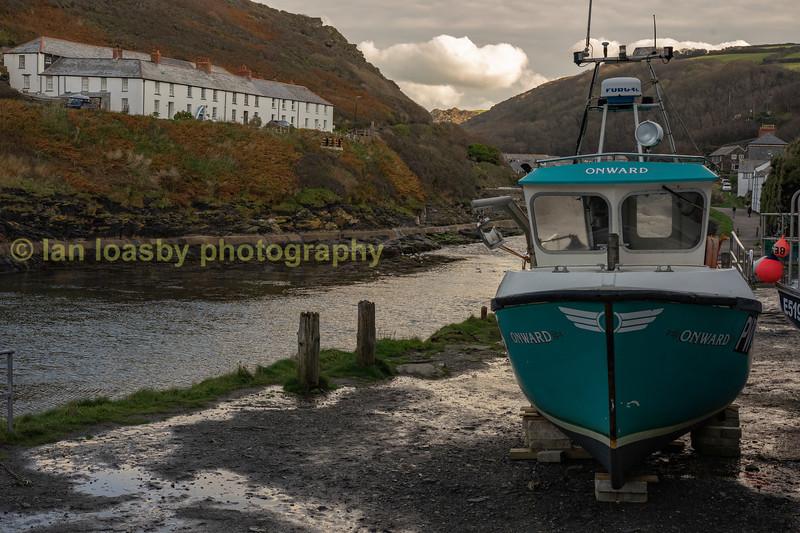 Fishing boat Boscastle harbour