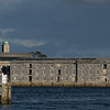 Part of the former Royal navy dockyard at Plymouth 'Royal William yard' now converted to civilian useage, as seen from the cornish side of the river Tamar at Cremyll