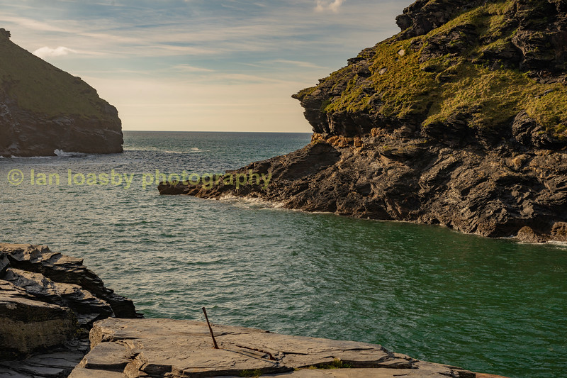 Entrance to Boscastle harbour.
