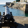 One of HMS Anson's protecting the entrance to Porthleven harbour