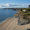 Looking back at Porthleven beach from the elevated First downs car park