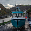 Fishing boat Boscastle harbour