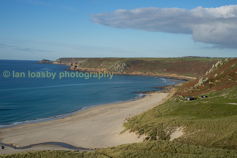 Just around the corner from Lands End is this fabulously sandy cove called Sennen cove,  only a short 1/2 - 3/4 of an hour walk around the northern coast cliff tops from lands end