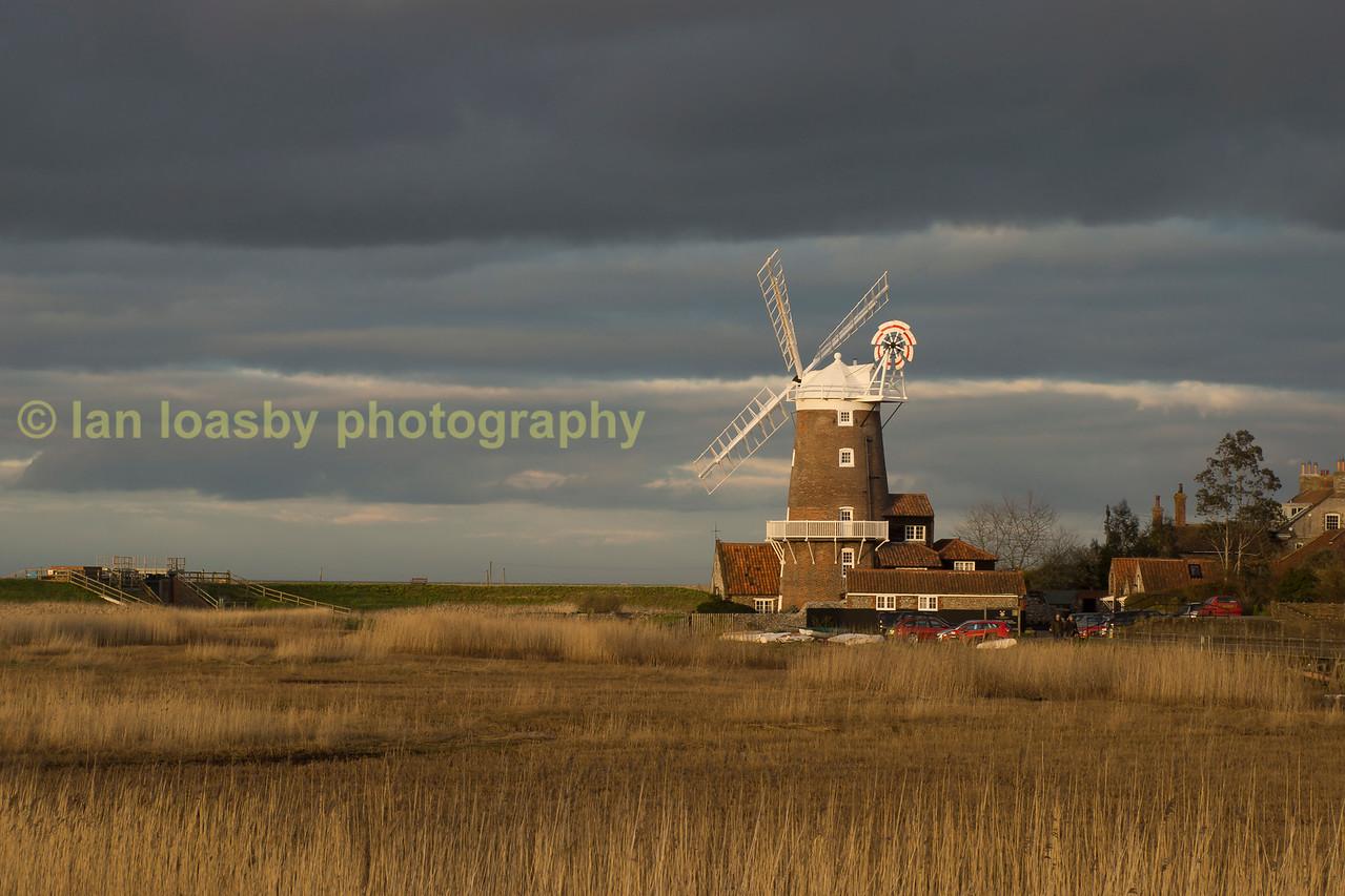 'Cley next sea ', North Norfolk  coastal village windmill