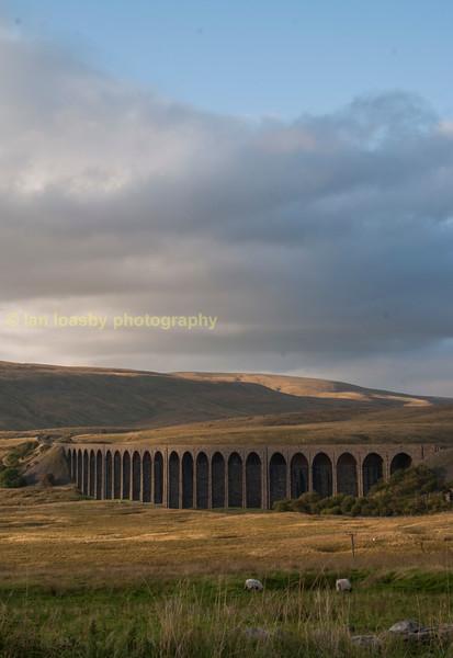 Ribblehead railway  viaduct in North Yorkshire