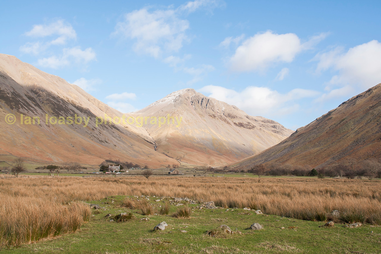 Great Gable at the head of Wasdale,England's tallest mountain.