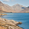 Wast water Englands deepest lake  found in Wasdale Cumbria.