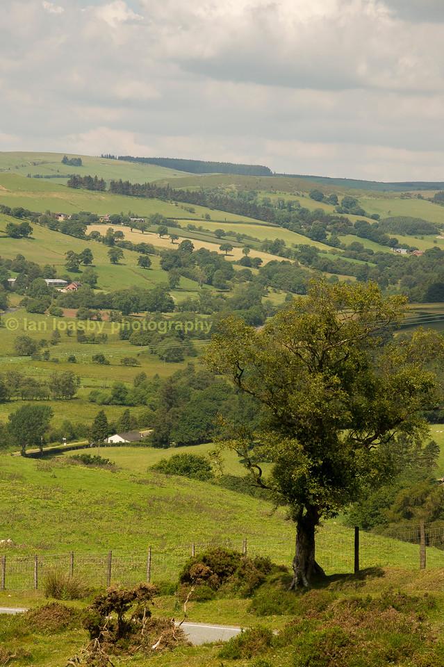 Mid Wales farm land