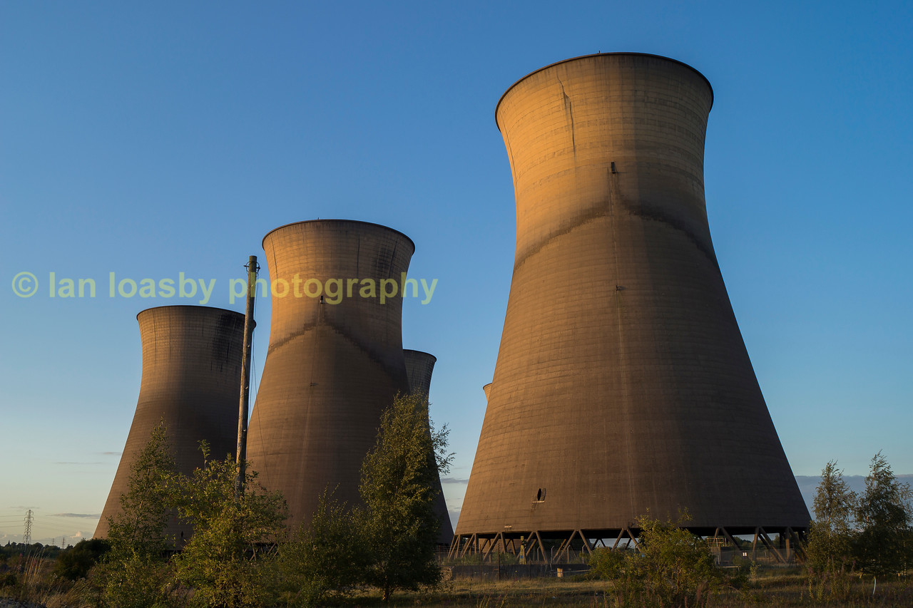 The disused Willington power station