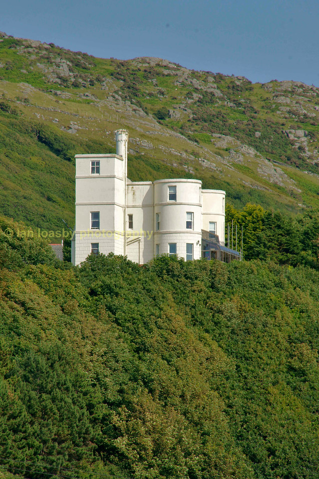 Art decco styled house on the hillside at Barmouth