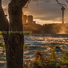 Downtown Niagara Ontario as viewed across the river Niagara from the Niagara State park NY USA