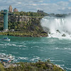 The American Observation tower, American falls and maid of the mist