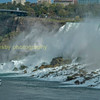 The American falls with one of the 'maids of the mist ' tourist boats