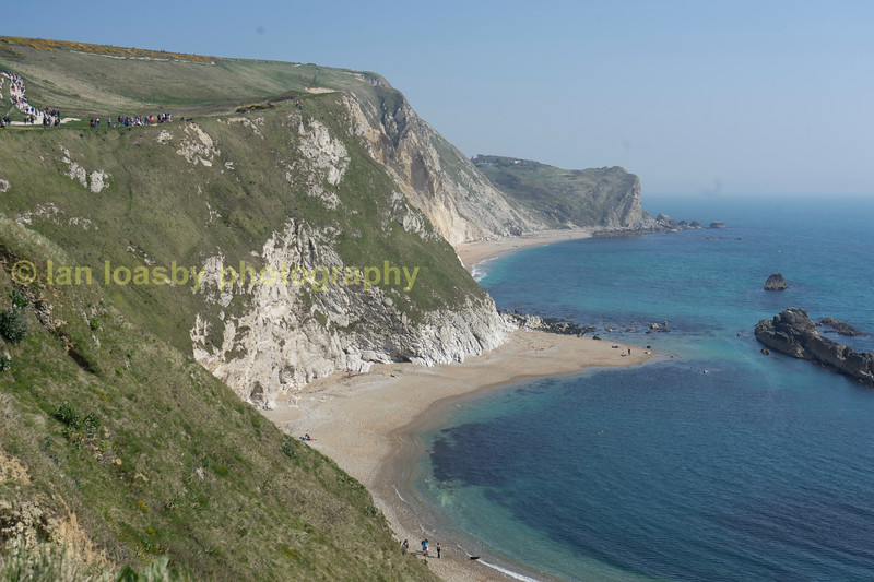 The beach at Durdle Door on the Jurassic coast  in Dorset