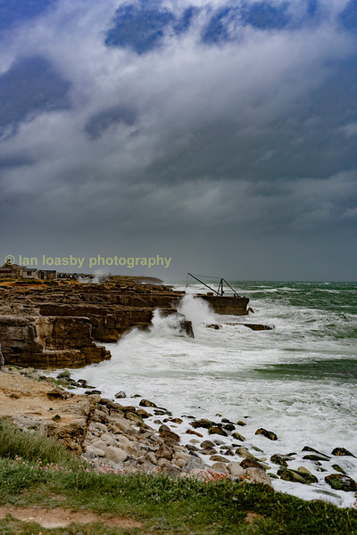 Stormy weather at Portland Bill