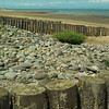 North Somerset coast, near Watchet,  pebbles,  gryones and beachon the Bristol channel.