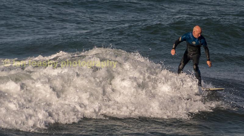 Surfing ofthe beach