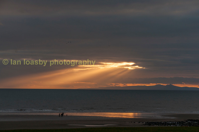 Sunset at St Bees, Cumbria, the western end of the coast to coast walk