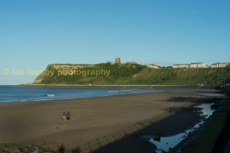Scarbough North beach looking south with the castle over looking