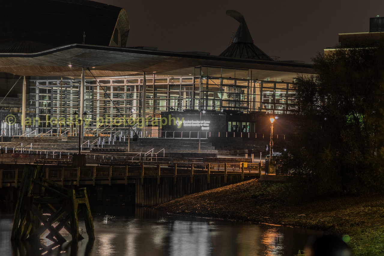 The welsh assembly building in Cardiff bay