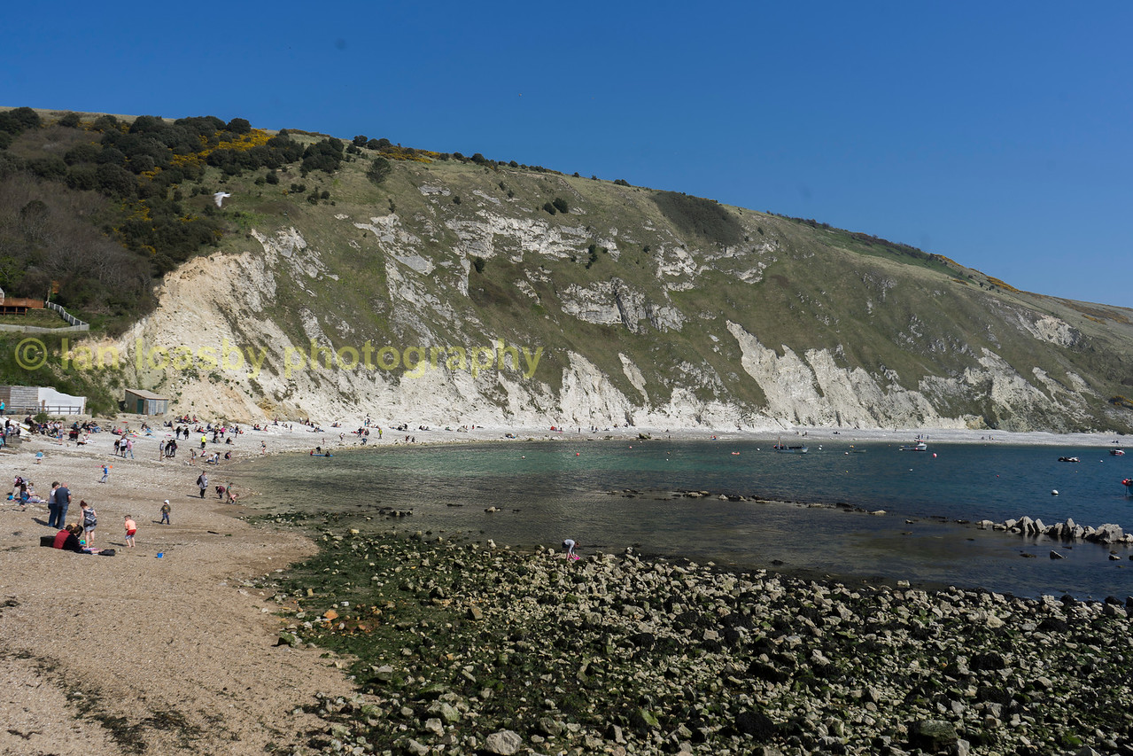 Lulworth Cove on Dorsets Jurassic coast, a world heritage site