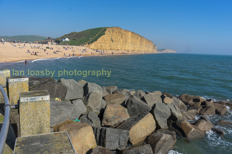 The jurassic coast at West Bay Dorset looking east