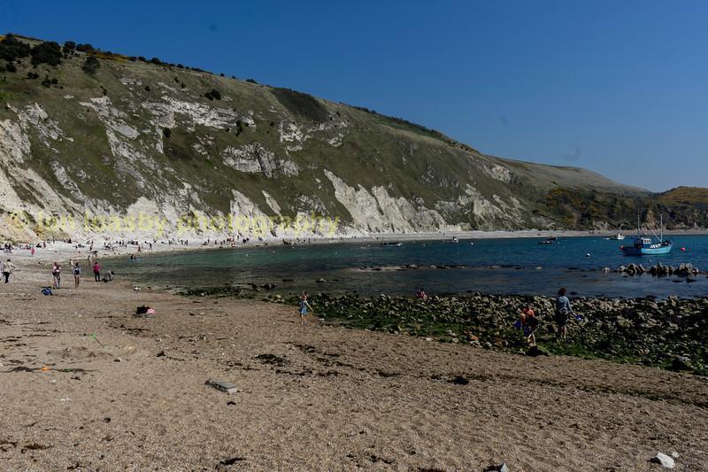 Lulworth Cove on Dorsets Jurassic coast, a world heritage site