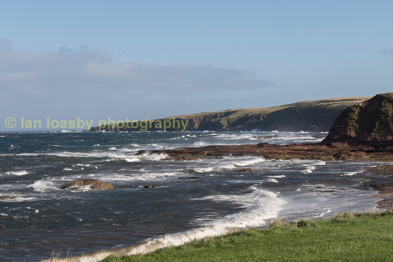 North Aberdeenshire bay in the teeth of a gale