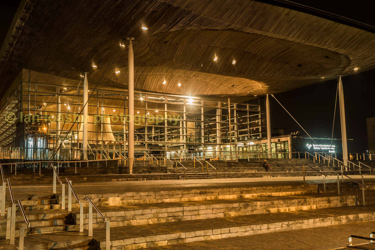 The Welsh Assembly building Cardiff bay