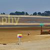 Holkham beach , huts, panramic image