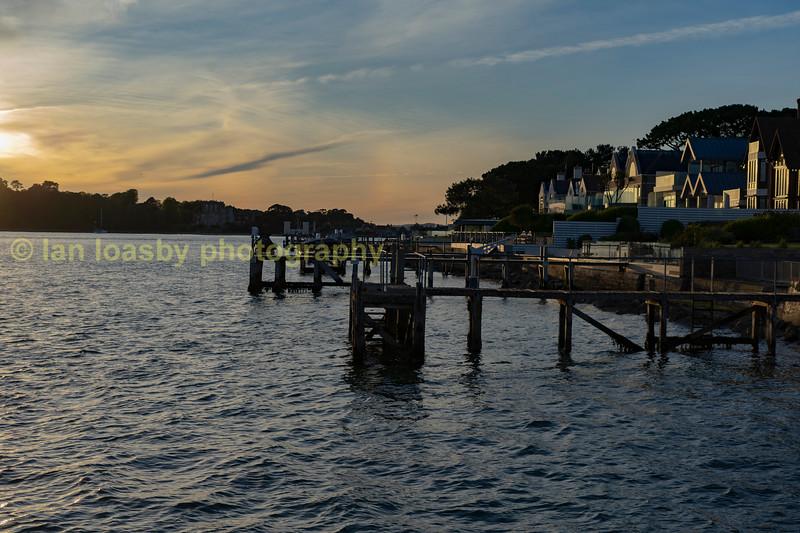 Sun set oner Brownsea island Sandbanks Poole Dorset