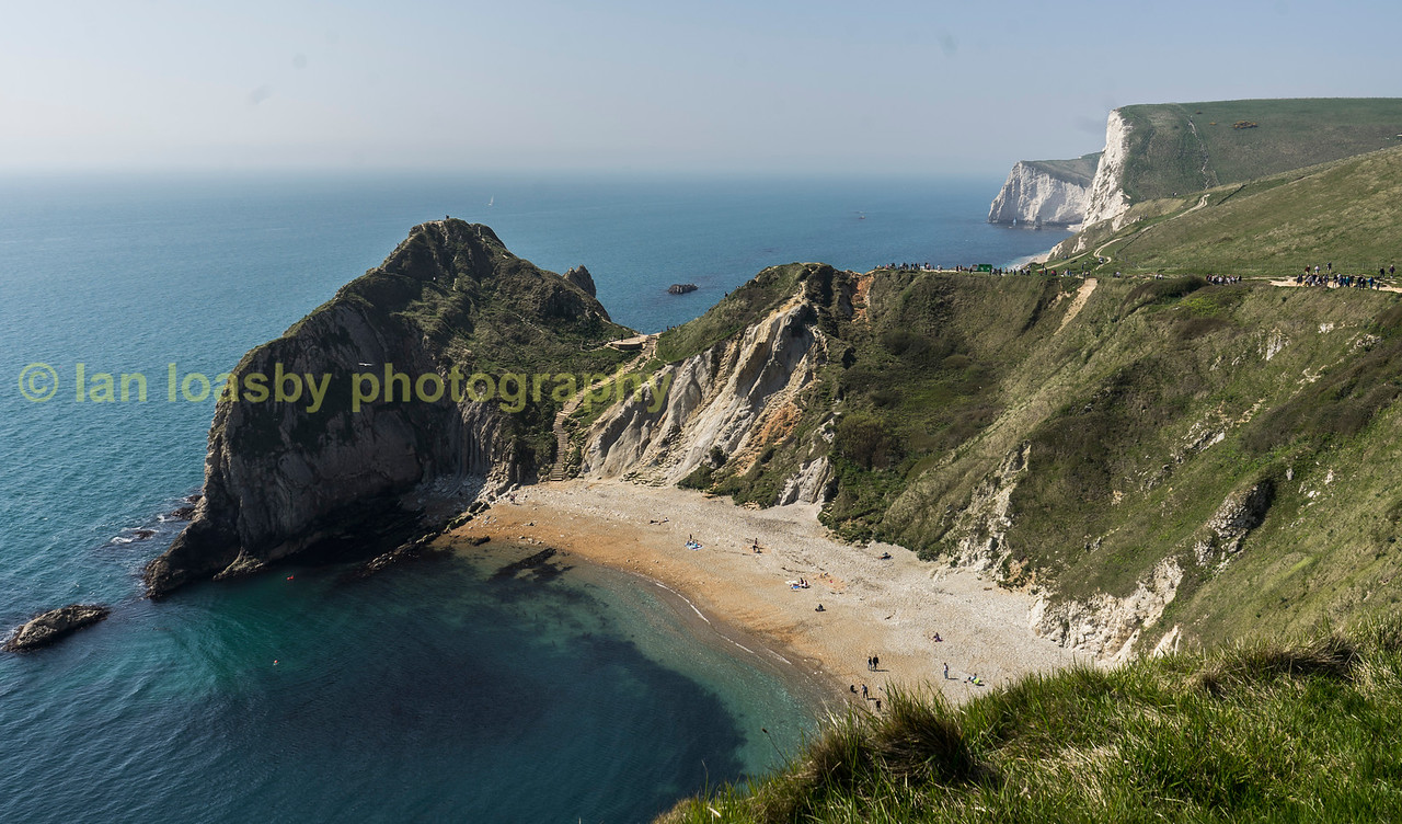 The beach at Durdle Door on the Jurassic coast  in Dorset