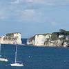 Old Harry's Rocks at studland bay dorset as seen from the middle beach car park