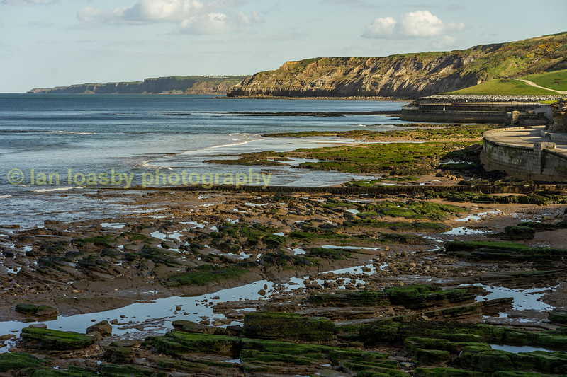 Looking towards Flamborough head from the south end of the promanarde at Scarbough