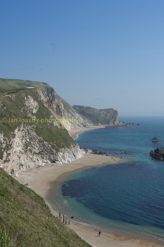 The Jurassic coast looking east at Durdle Door Dorset