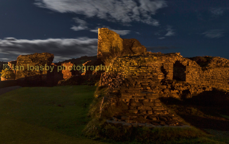 The remains of Aberystwyth castle a ruin since the 14th centuary