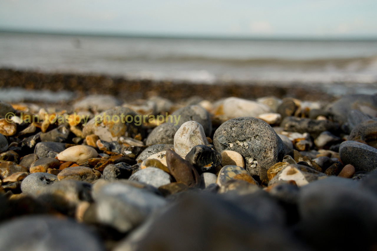 pebbles on he beach